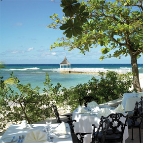 Restaurante del resort Half Moon